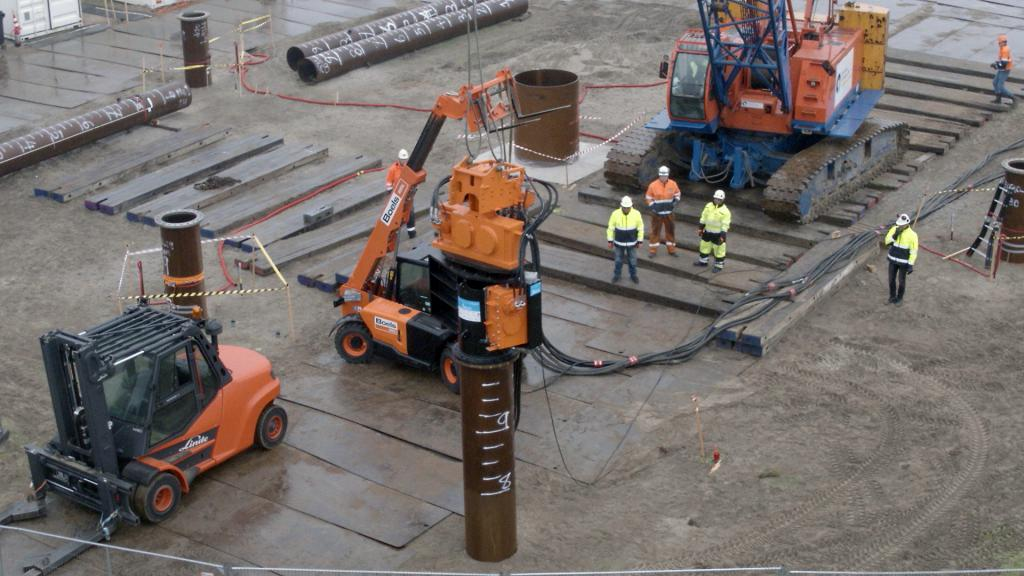 Gentle Driving of Piles Demonstration Site